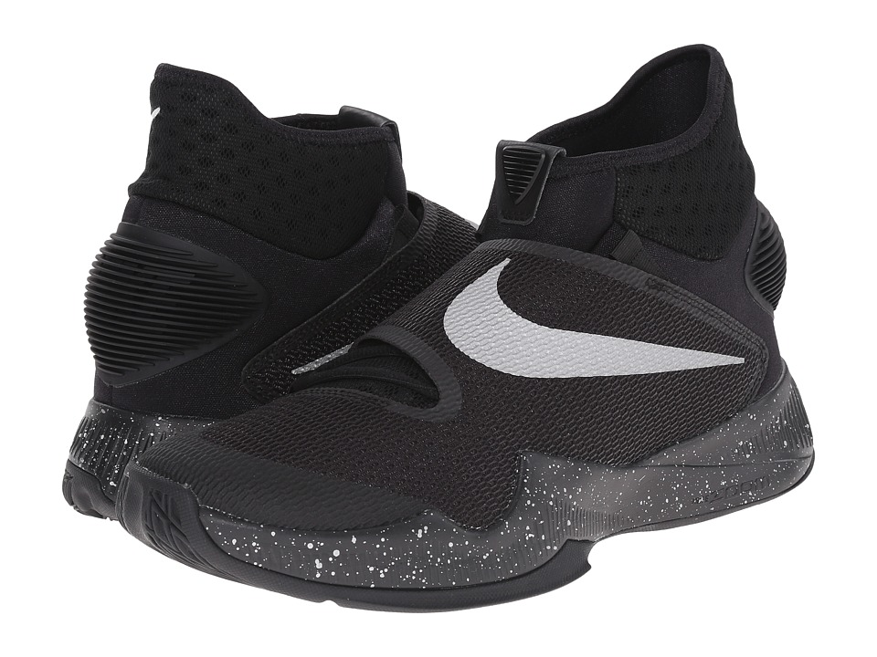 Nike - Zoom Hyperrev 2016 (Black/Metallic Silver) Men's Basketball Shoes
