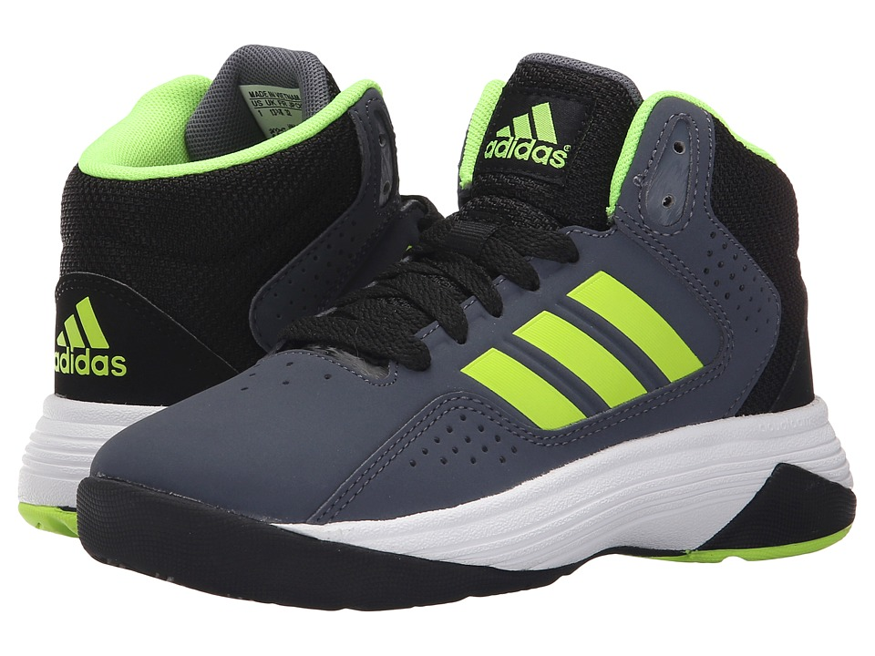 adidas Kids - Cloudfoam Ilation (Little Kid/Big Kid) (Lead/Solar Yellow/Core Black) Boys Shoes
