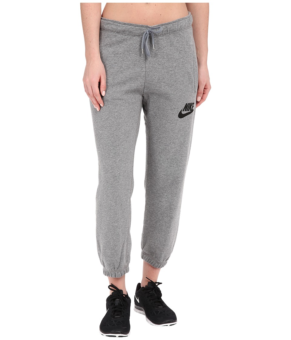 Nike - Rally Capris (Carbon Heather/Cool Grey/Black) Women