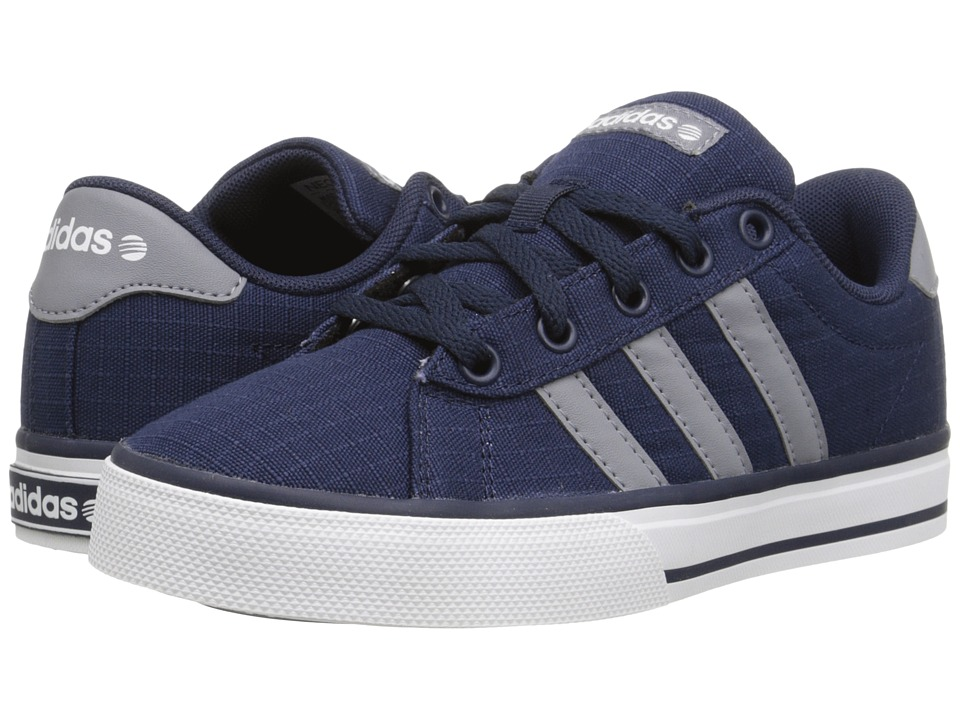 adidas Kids Daily (Little Kid/Big Kid) (Navy/Grey/Running White) Boys Shoes