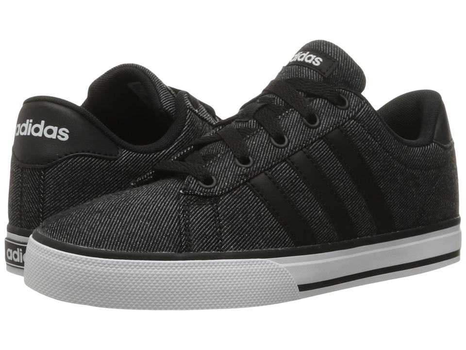 adidas Kids - Daily (Little Kid/Big Kid) (Black/Black/White) Boys Shoes