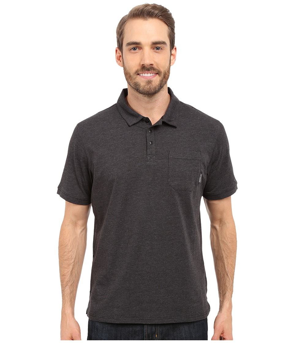 Columbia - Global Rambler Polo (Black Heather) Men's Short Sleeve Pullover