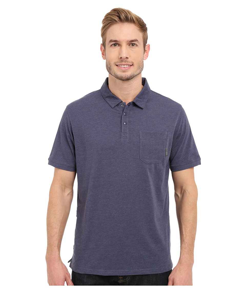 Columbia - Global Rambler Polo (Nocturnal Heather) Men's Short Sleeve Pullover