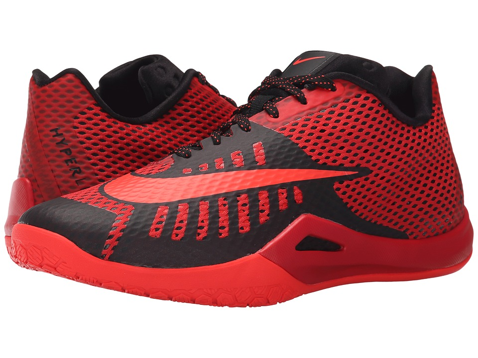 Nike - Hyperlive (University Red/Black/Gym Red/Metallic Silver) Men's Basketball Shoes