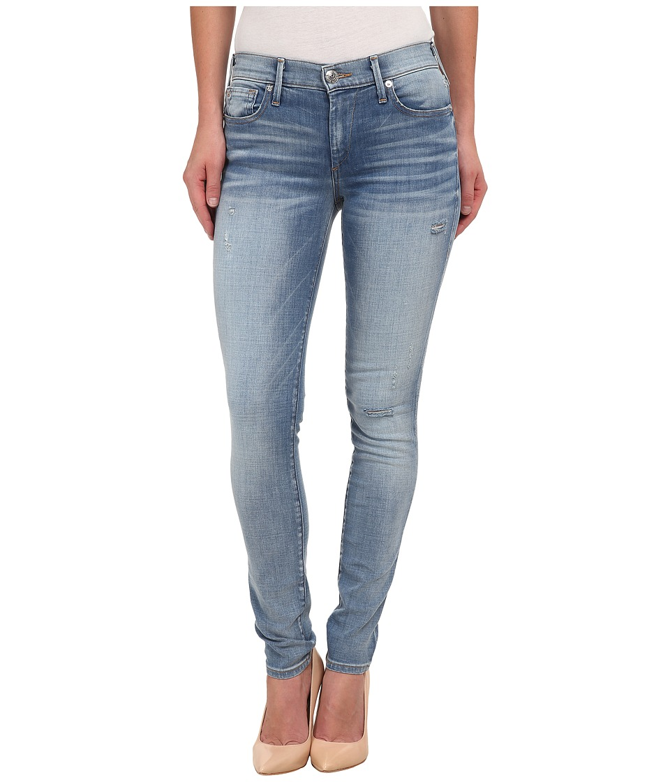 True Religion - Mid Rise Halle w/ Raw Hem in Sea Glass Clean (Sea Glass Clean) Women's Jeans