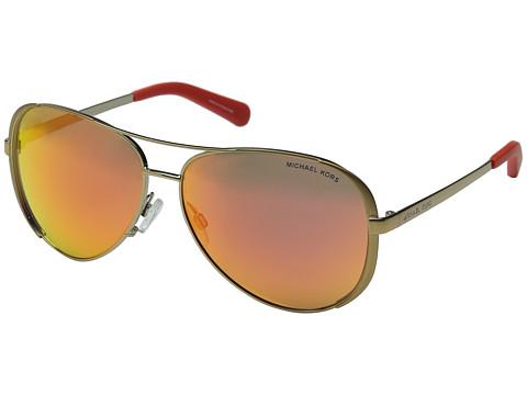 Michael Kors - Chelsea (Gold/Brown Mirror Orange) Fashion Sunglasses