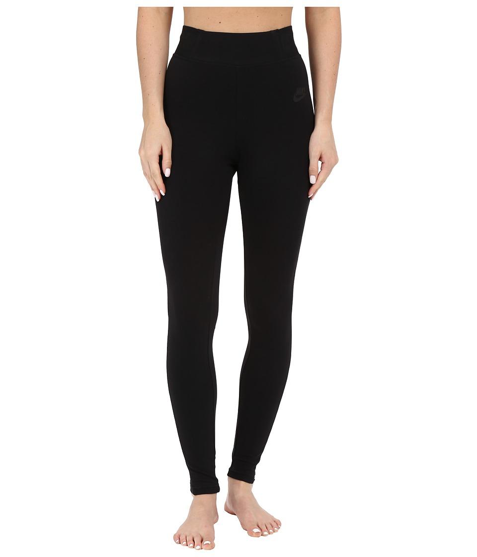 Nike - Bonded Mesh Legging (Black/Black/Black) Women's Casual Pants
