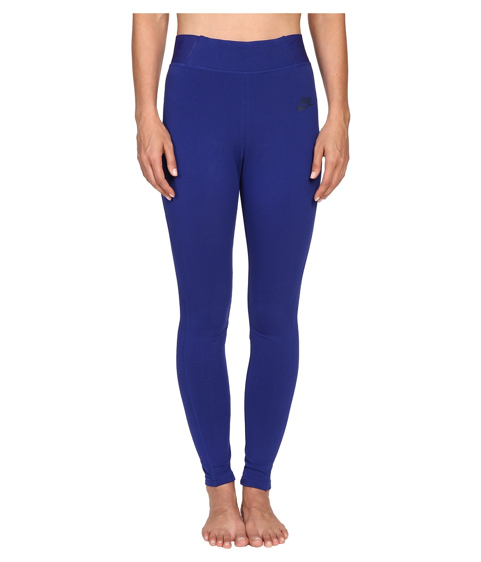 Nike - Bonded Mesh Legging (Deep Royal Blue/Deep Royal Blue/Obsidian) Women's Casual Pants