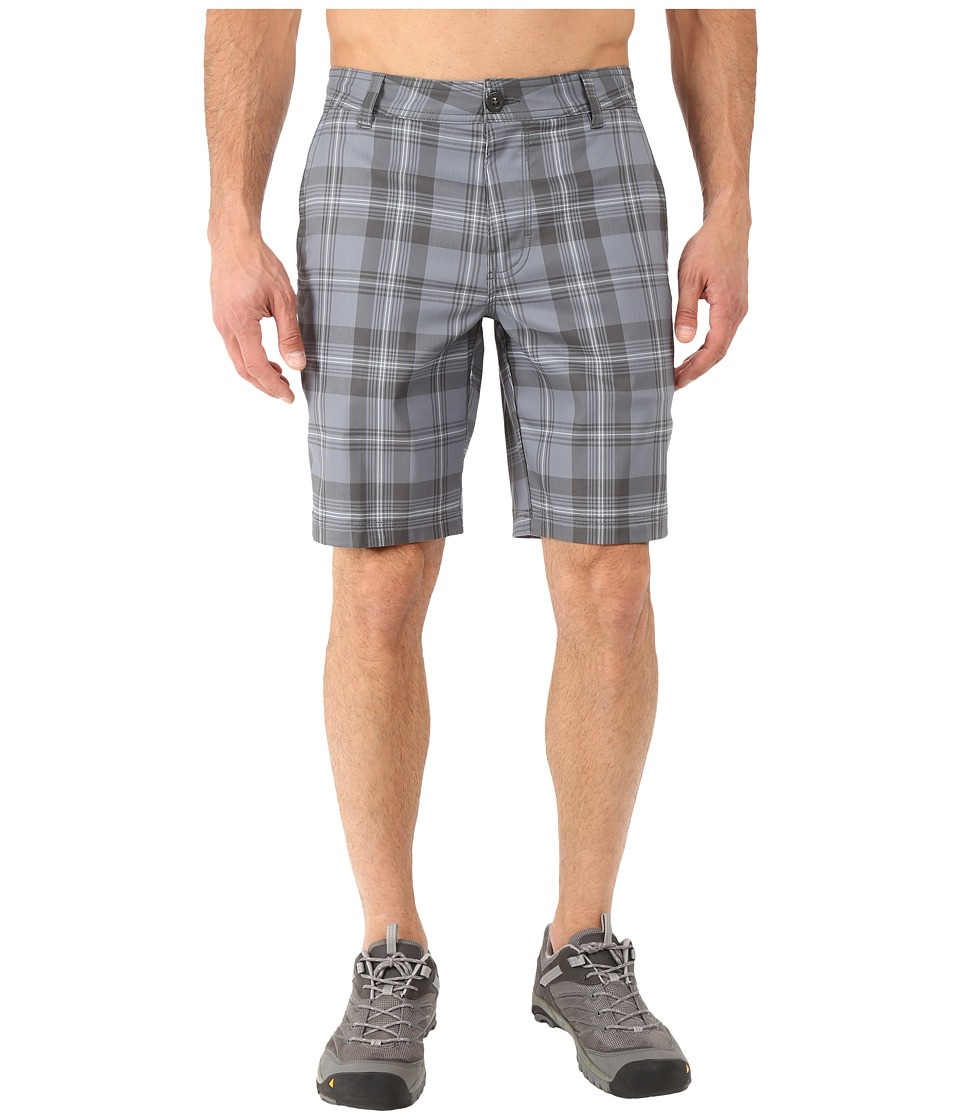Columbia - Castlewood Shorts (Grey Ash Plaid) Men's Shorts