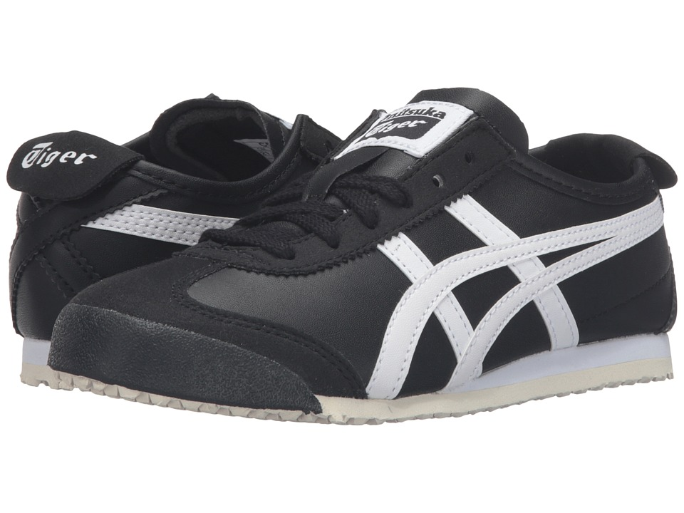 Onitsuka Tiger Kids by Asics - Mexico 66 PS (Toddler/Little Kid) (Black/White) Boy's Shoes
