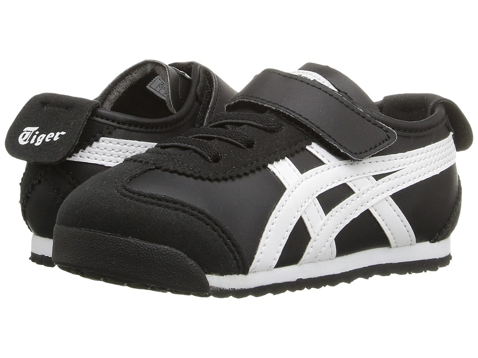 Onitsuka Tiger Kids by Asics - Mexico 66 TS (Toddler) (Black/White) Boy's Shoes