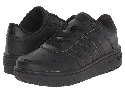 adidas Kids - Team Court (Little Kid/Big Kid) (Black/Black/Black) Kids Shoes
