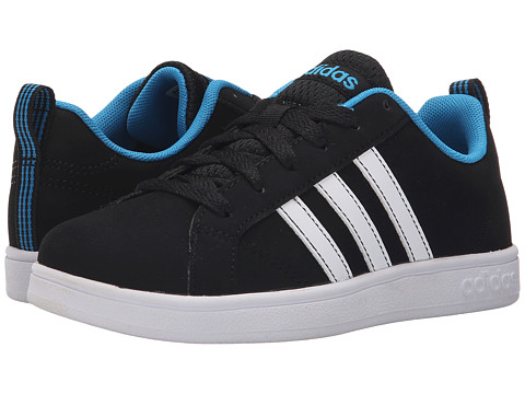 adidas Kids - Advantage VS (Little Kid/Big Kid) (Core Black/White/Solar Blue) Boys Shoes