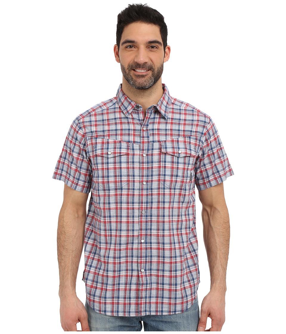 Columbia - Leadville Ridge Short Sleeve Shirt (Rocket Plaid) Men's Short Sleeve Button Up