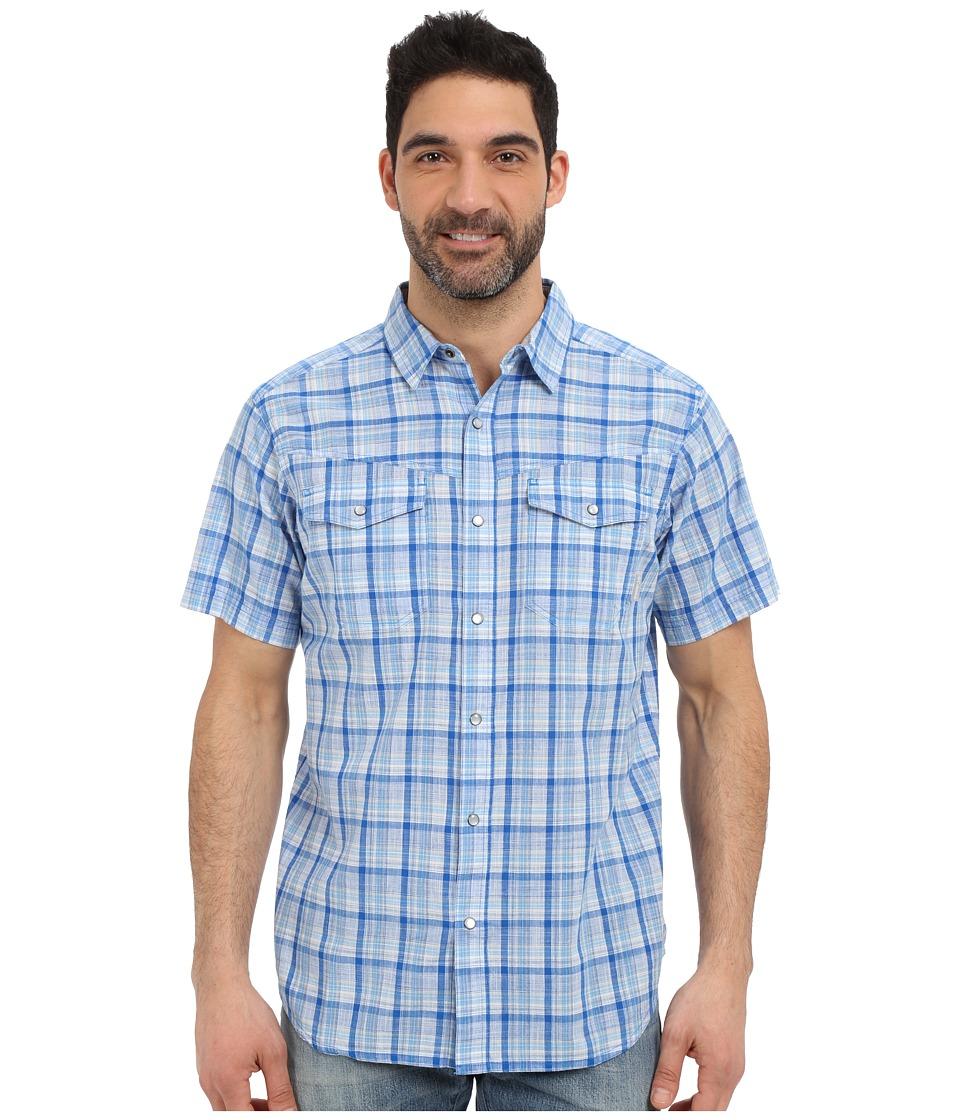 Columbia - Leadville Ridge Short Sleeve Shirt (Super Blue Plaid) Men's Short Sleeve Button Up