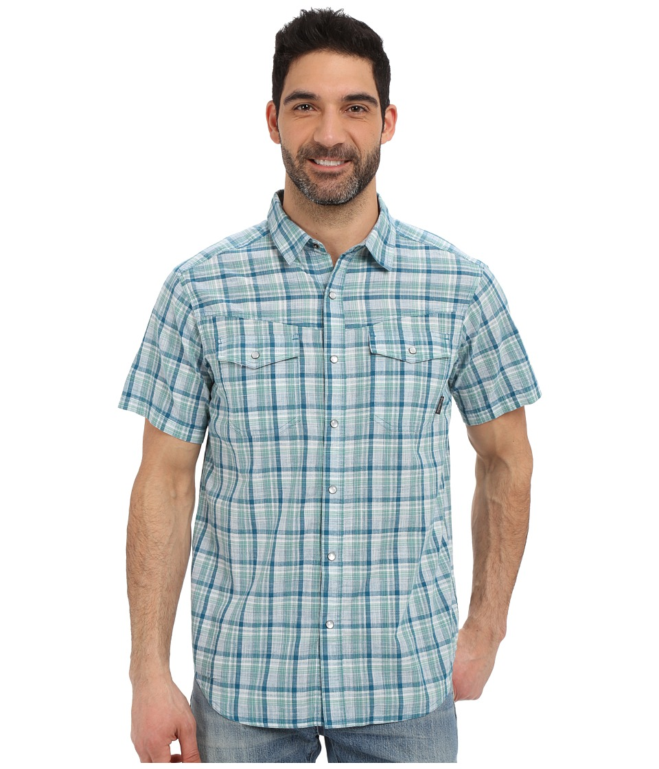Columbia - Leadville Ridge Short Sleeve Shirt (Dark Turquoise Plaid) Men's Short Sleeve Button Up