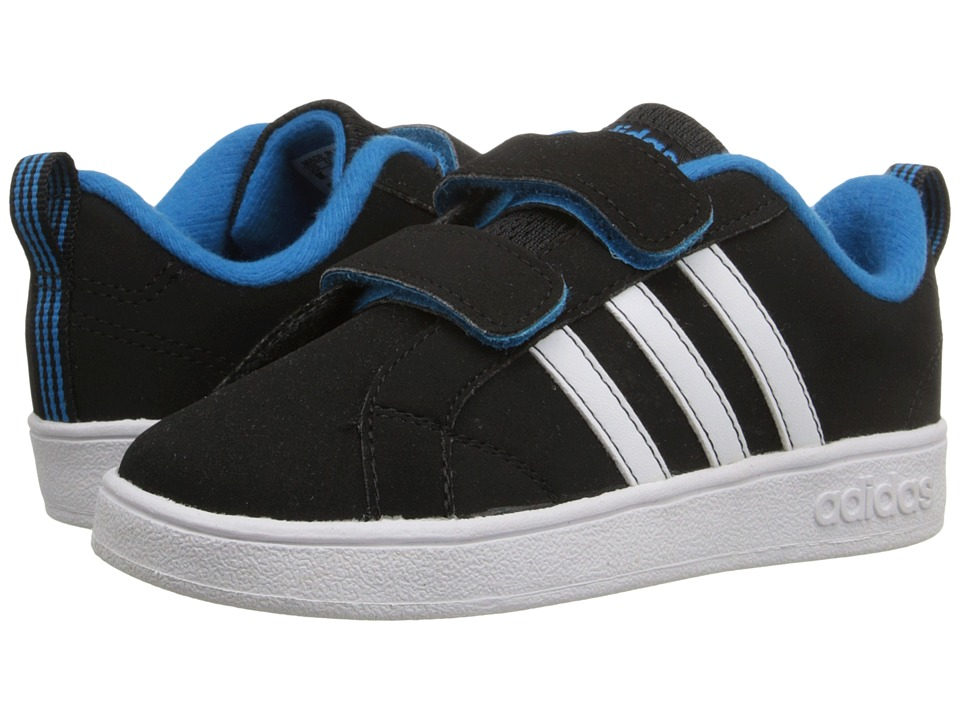 adidas Kids - Advantage VS (Infant/Toddler) (Core Black/White/Solar Blue) Boys Shoes