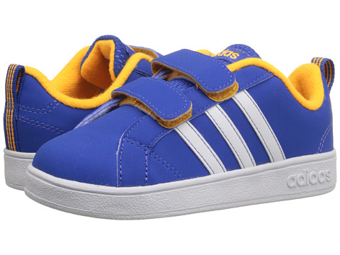 adidas Kids - Advantage VS (Infant/Toddler) (Blue/White/Solar Gold) Boys Shoes