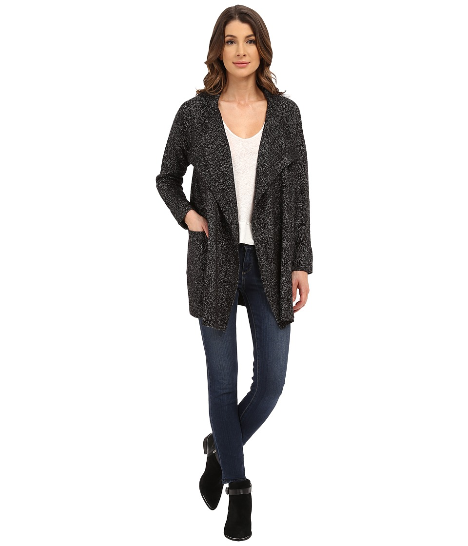 NYDJ - Cascade Cardi Coat (Black/White Combo) Women's Jacket