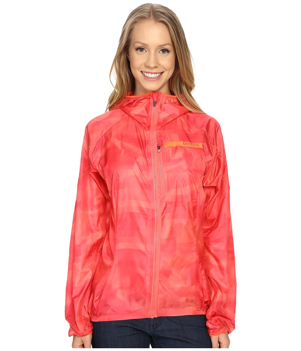 adidas Outdoor - Terrex Agravic Wind Jacket (Super Blush) Women's Coat