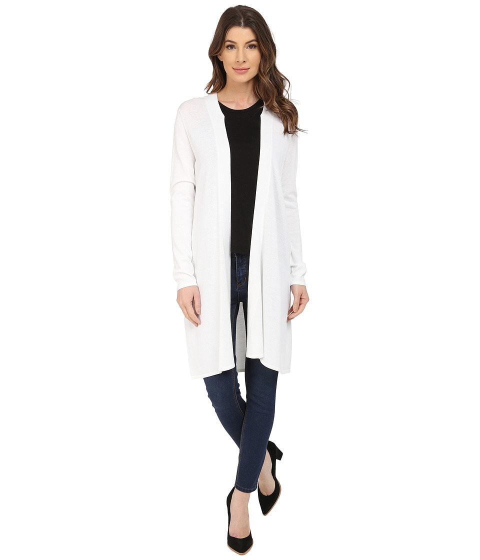 NYDJ - Duster Cardigan (Optic White) Women's Sweater