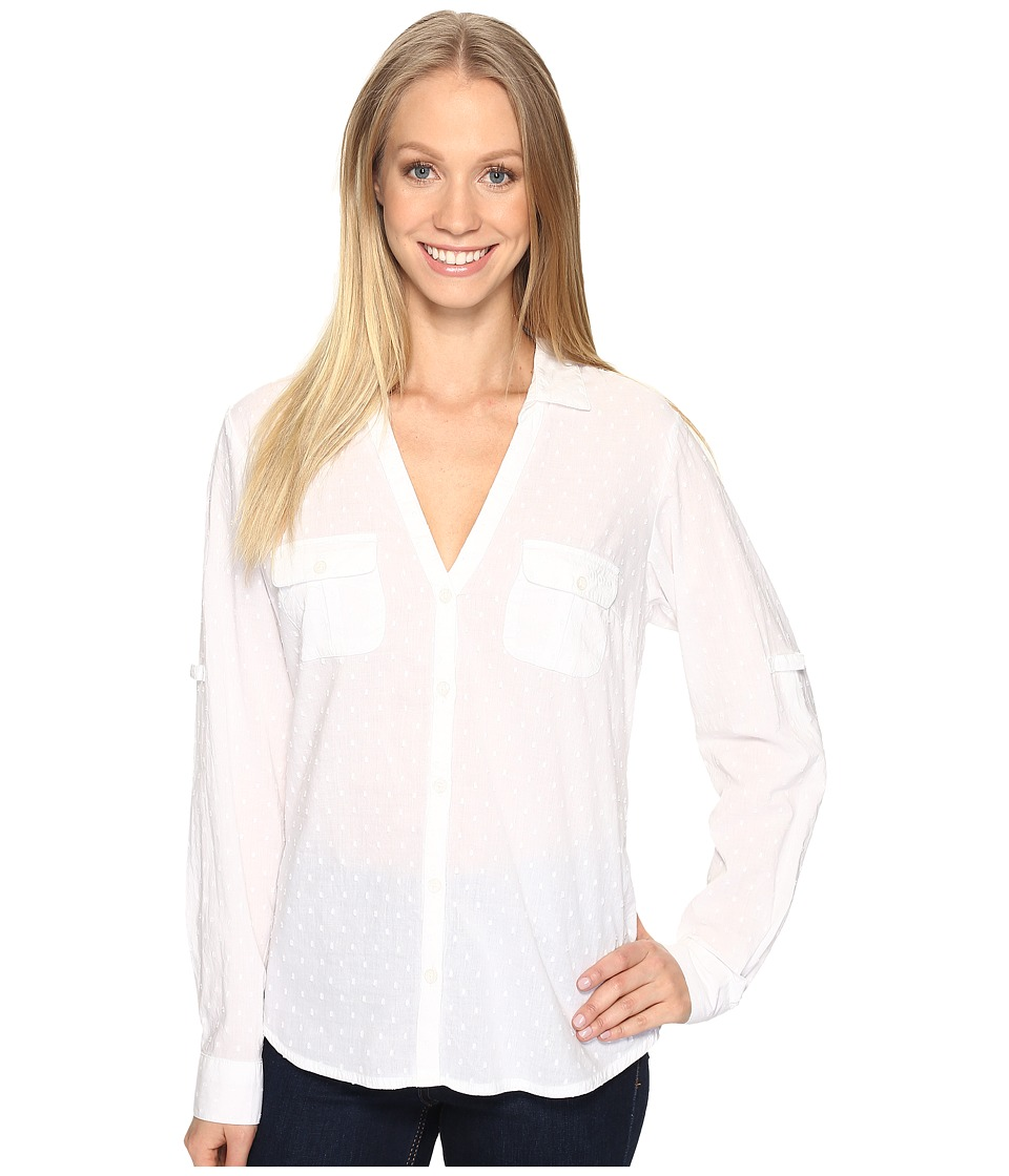Columbia - Sun Driftertm L/S Shirt (White Swiss Dot) Women's Long Sleeve Button Up
