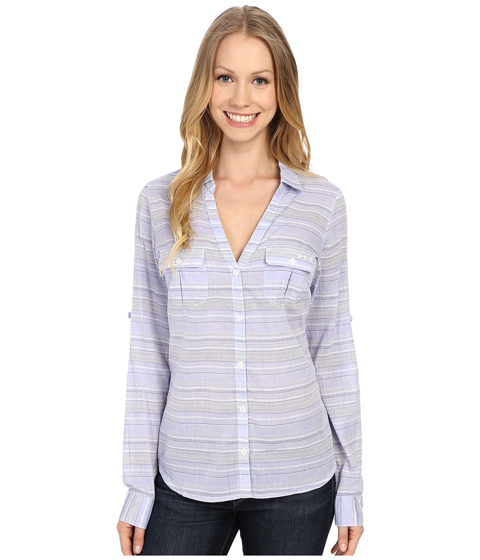 Columbia - Sun Drifter L/S Shirt (Pale Purple Stripe) Women's Long Sleeve Button Up