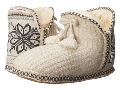 MUK LUKS - Amira Slipper Bootie (Winter White) Women's Pull-on Boots