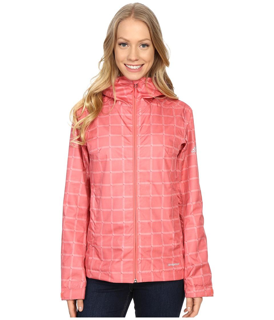 adidas Outdoor - Al Outdoor 2L Wandertag AOP Jacket (Super Blush) Women's Coat