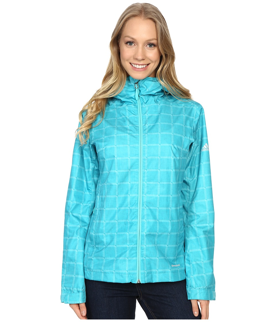 adidas Outdoor - Al Outdoor 2L Wandertag AOP Jacket (Vivid Mint) Women's Coat