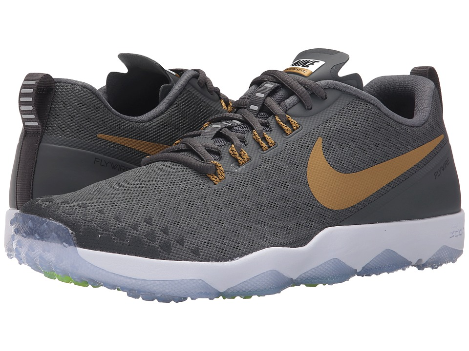 Nike - Zoom Hypercross TR2 (Dark Grey/Black/White/Metallic Gold) Men's Cross Training Shoes
