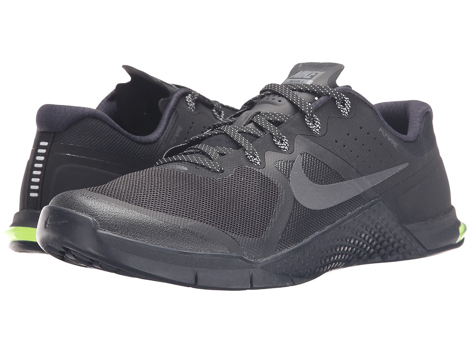 Nike - Metcon 2 (Black/Dark Grey/Volt/Black) Men's Cross Training Shoes