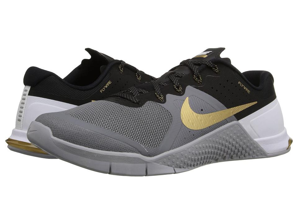 Nike Metcon 2 (Cool Grey/Dark Grey/Gum Medium Brown/Metallic Gold) Men
