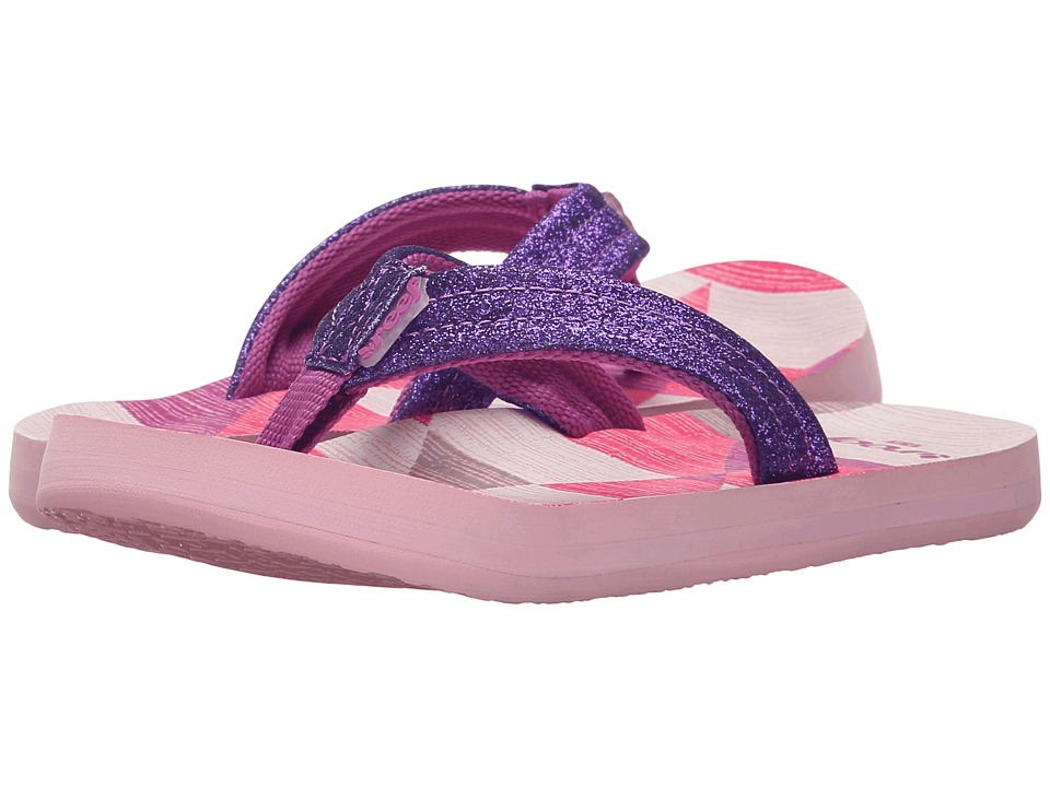 Reef Kids - Little Ahi Stars (Infant/Toddler/Little Kid/Big Kid) (Purple/Multi) Girls Shoes