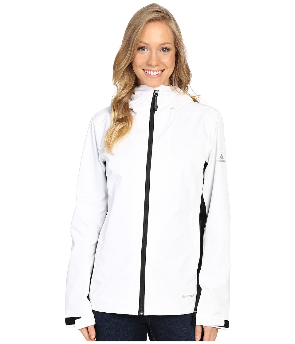 adidas Outdoor - All Outdoor 2L Wandertag Color Block Jacket (White/Black) Women's Coat