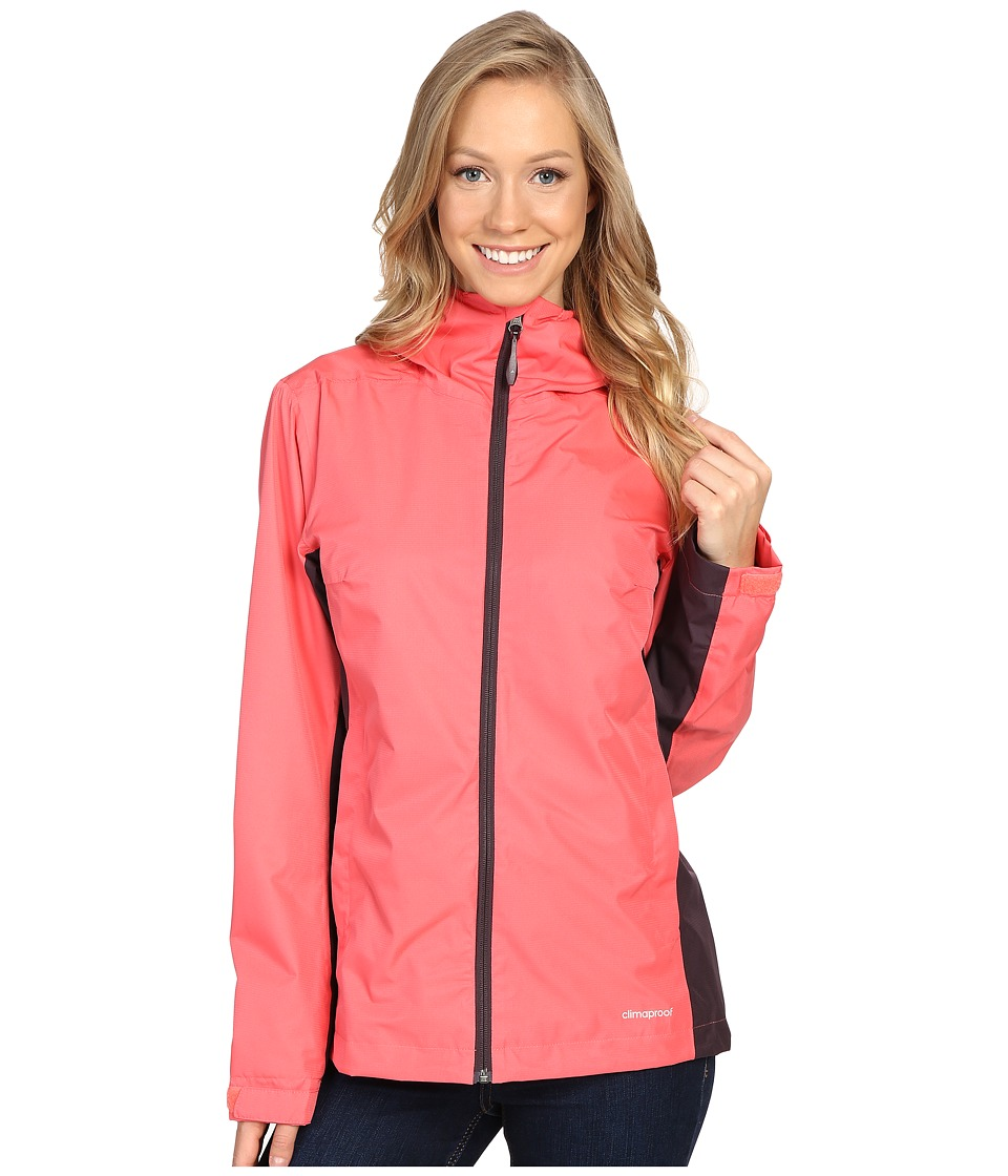 adidas Outdoor - All Outdoor 2L Wandertag Color Block Jacket (Super Blush/Mineral Red) Women's Coat