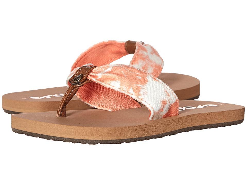 Reef Kids Little Reef Scrunch TX (Infant/Toddler/Little Kid/Big Kid) (Coral Tye Dye) Girls Shoes