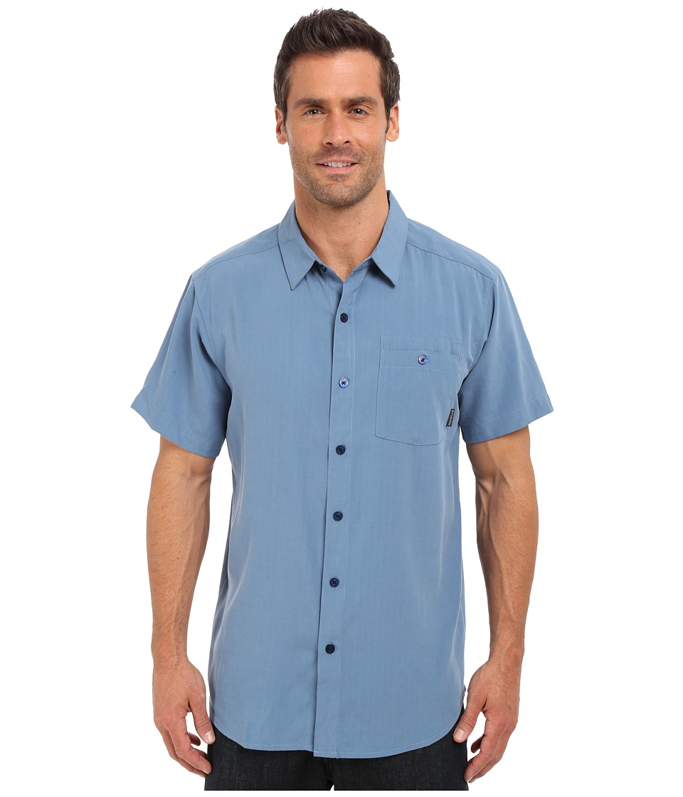 Columbia - Mossy Trailtm S/S Shirt (Steel Slub) Men's Short Sleeve Button Up