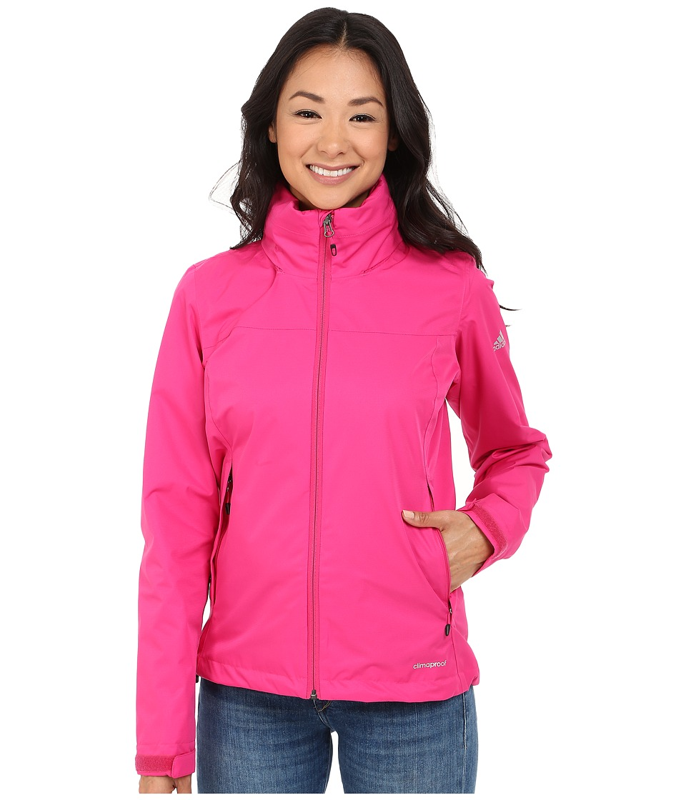 adidas Outdoor - All Outdoor 2L Wandertag Solid Jacket (EQT Pink) Women's Coat