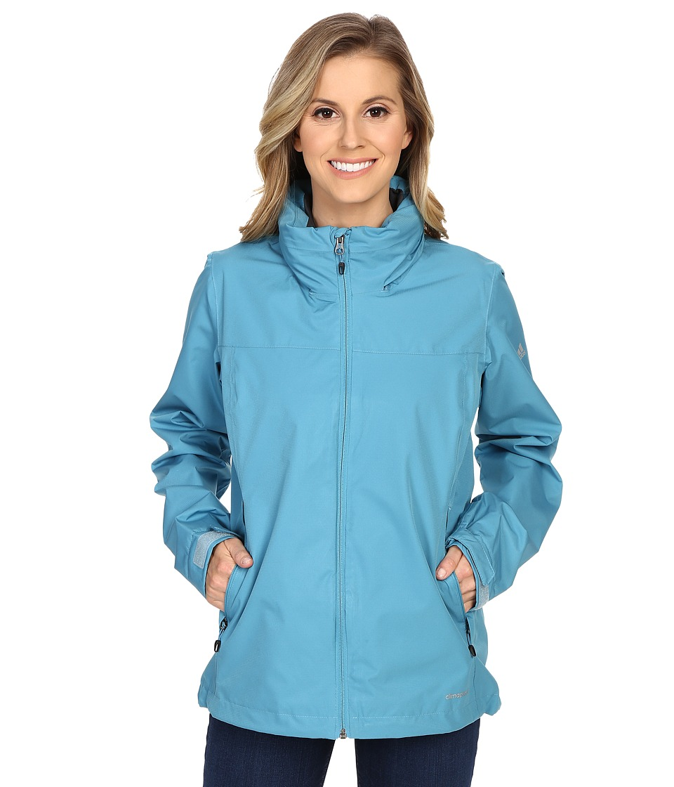 adidas Outdoor - All Outdoor 2L Wandertag Solid Jacket (Blanch Sea) Women's Coat