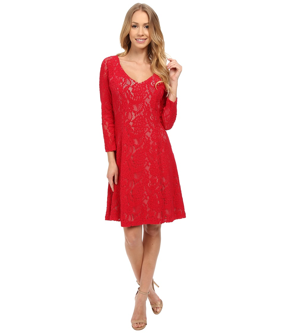 NYDJ - Amelia All Over Lace Dress (Cardinal Red) Women's Dress