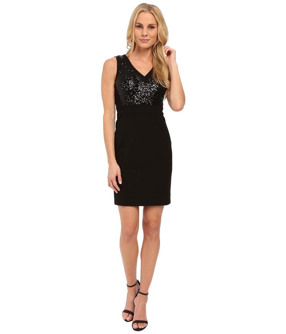 NYDJ - Colette All Over Sequins Dress (Black) Women's Dress