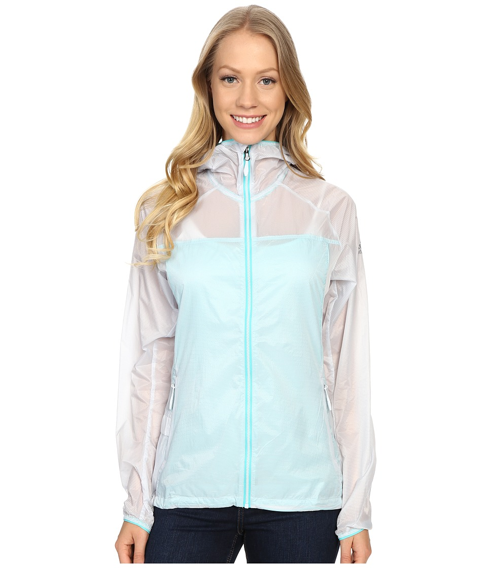 adidas Outdoor - All Outdoor Mistral Wind Jacket (Halo Blue) Women's Coat