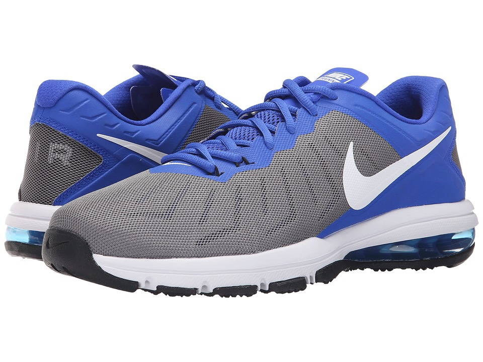 Nike - Air Max Full Ride TR (Cool Grey/Racer Blue/Black/White) Men's Cross Training Shoes