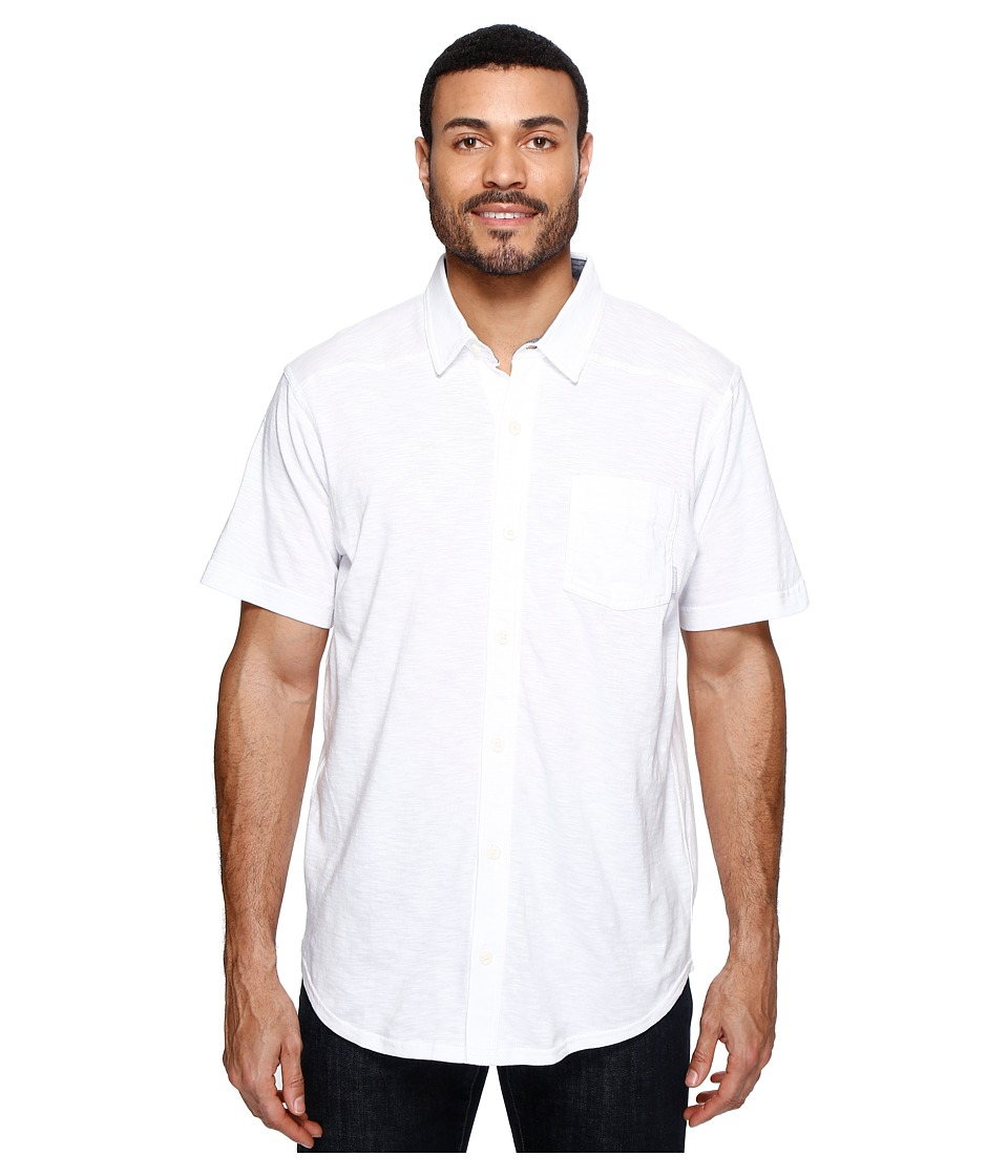 Columbia - Lookout Pointtm Short Sleeve Knit Shirt (White/Collegiate Navy Oxford) Men's Short Sleeve Button Up