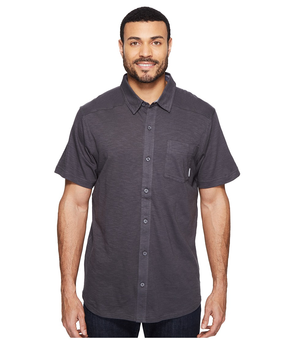 Columbia - Lookout Pointtm Short Sleeve Knit Shirt (Shark/Graphite Oxford) Men's Short Sleeve Button Up