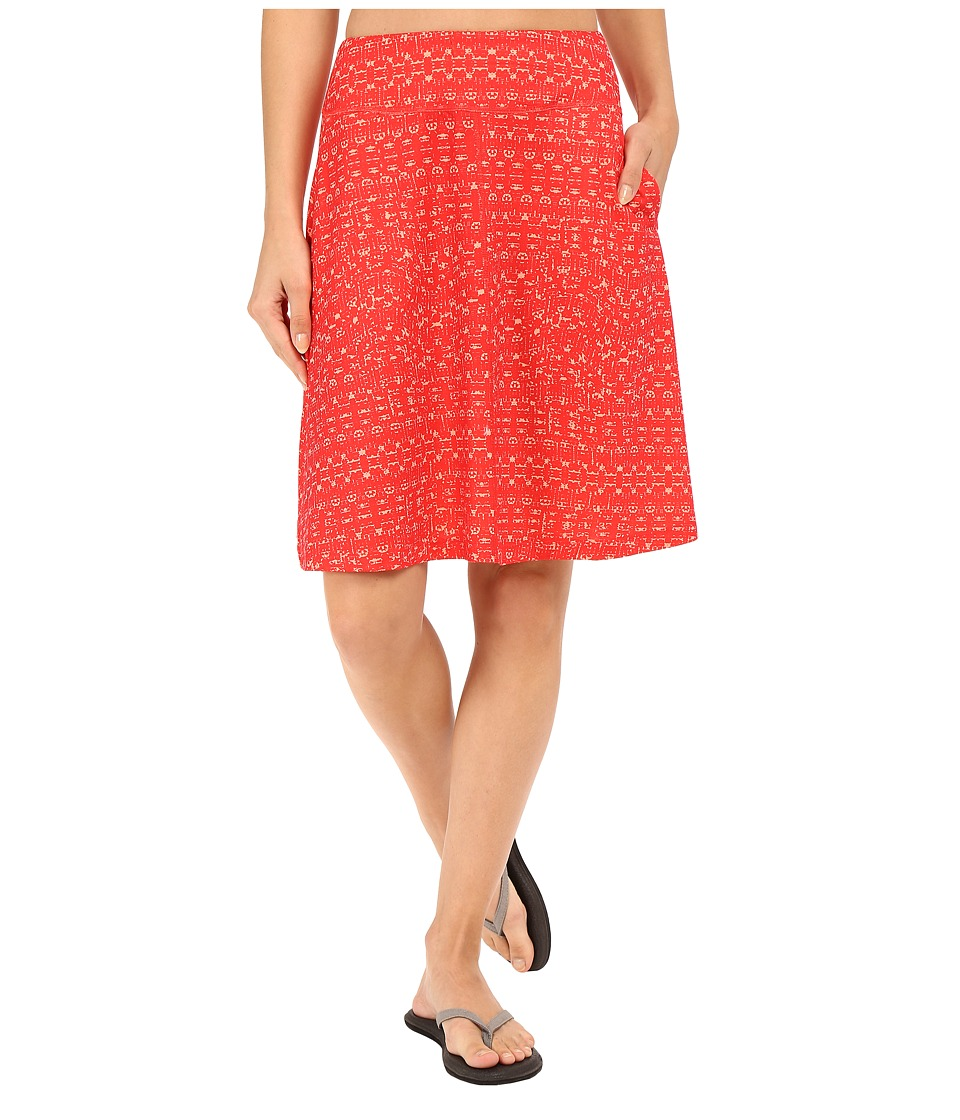 Mountain Hardwear DrySpun Perfect Printed Skirt (Red Hibiscus) Women
