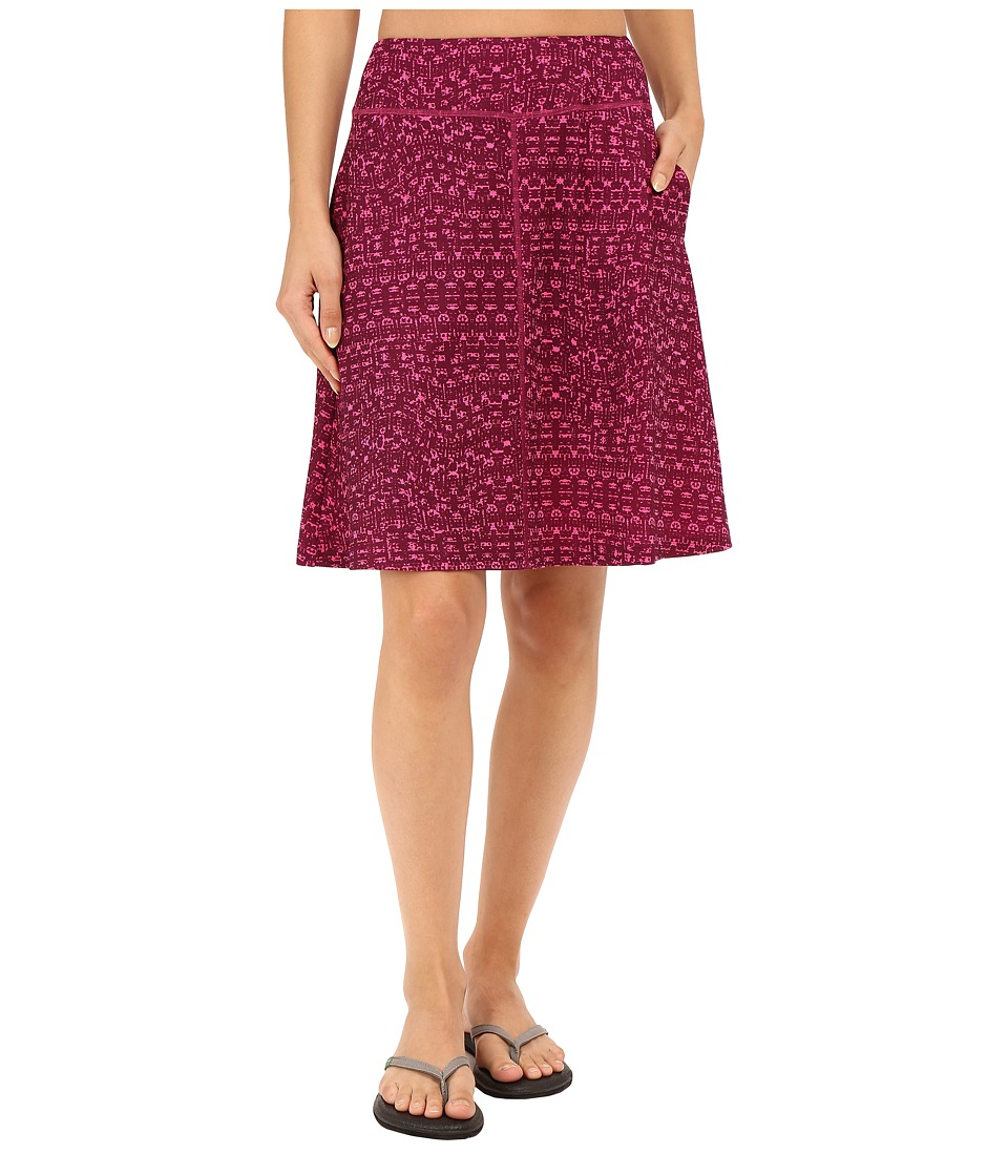 Mountain Hardwear - DrySpun Perfect Printed Skirt (Dark Raspberry) Women's Skirt