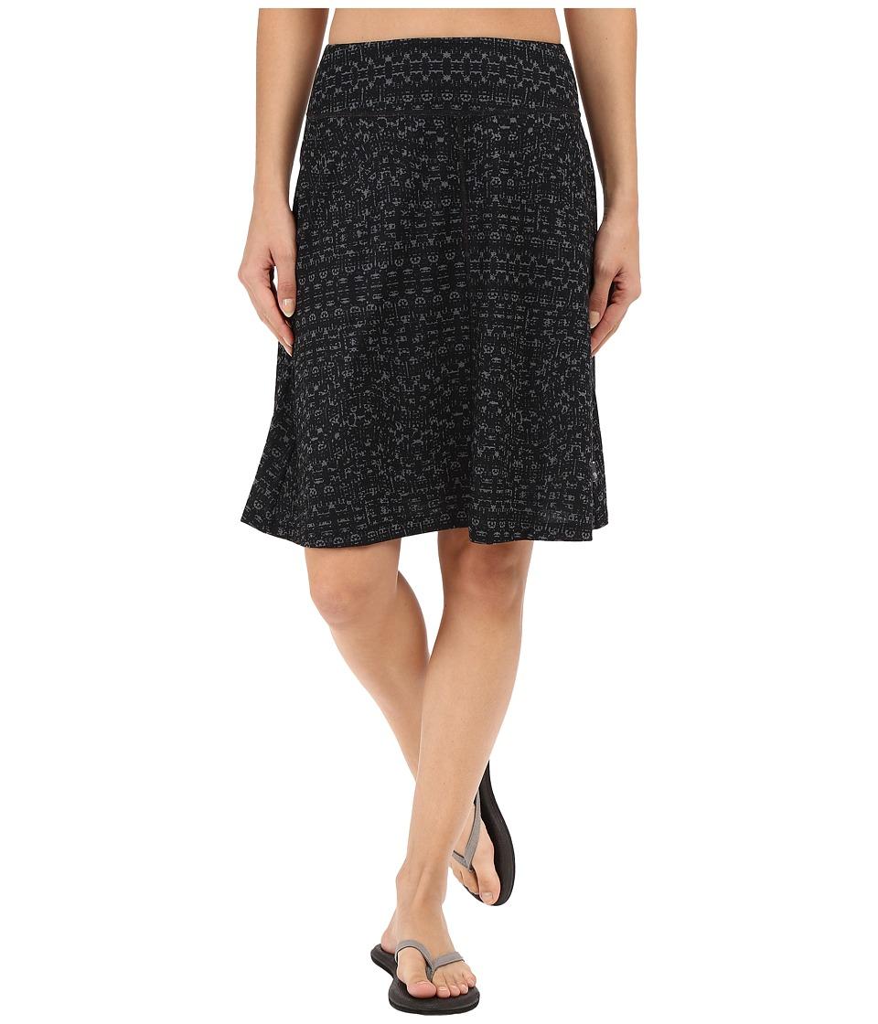 Mountain Hardwear - DrySpun Perfect Printed Skirt (Black) Women's Skirt
