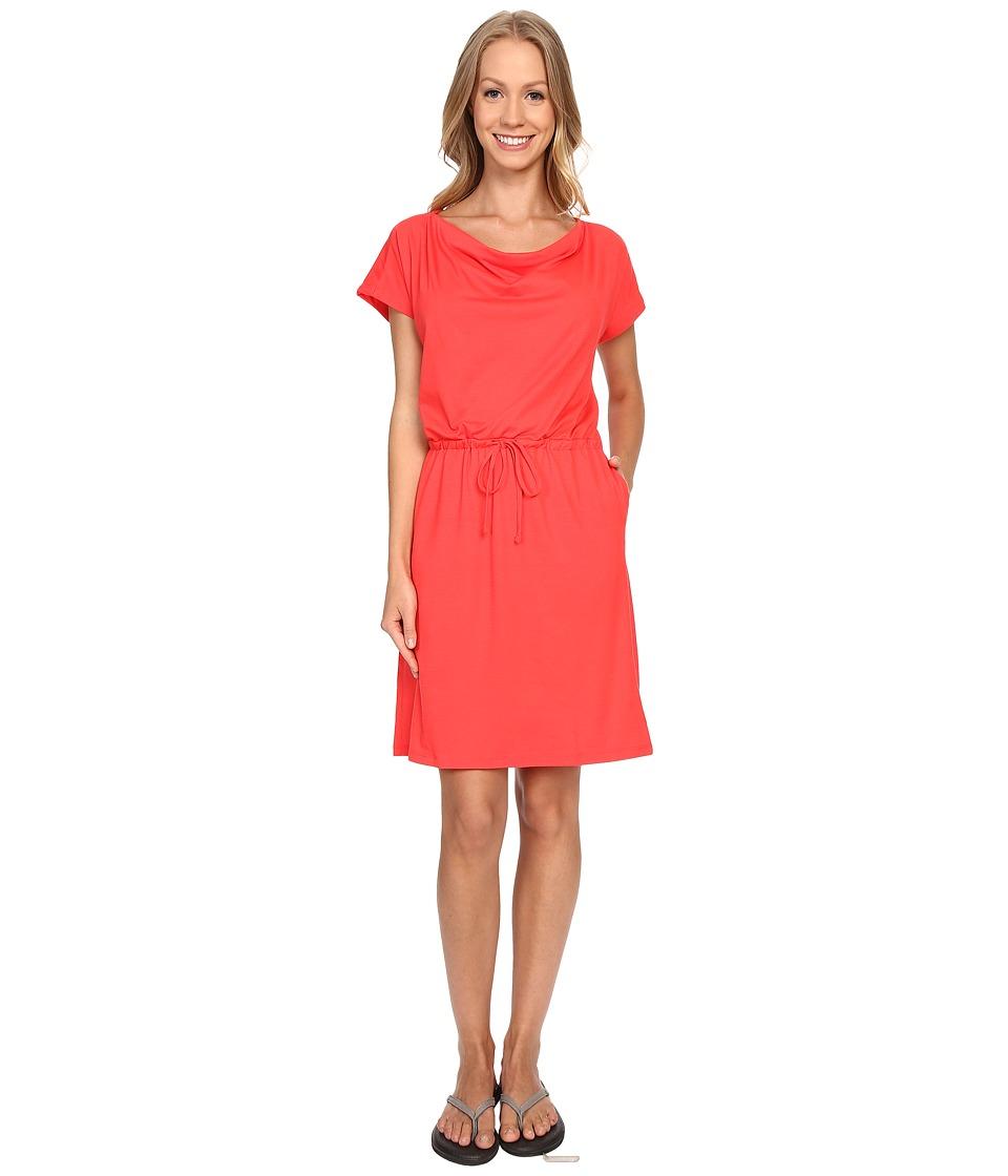 Mountain Hardwear - DrySpun Perfect Tee Dress (Red Hibiscus) Women's Dress